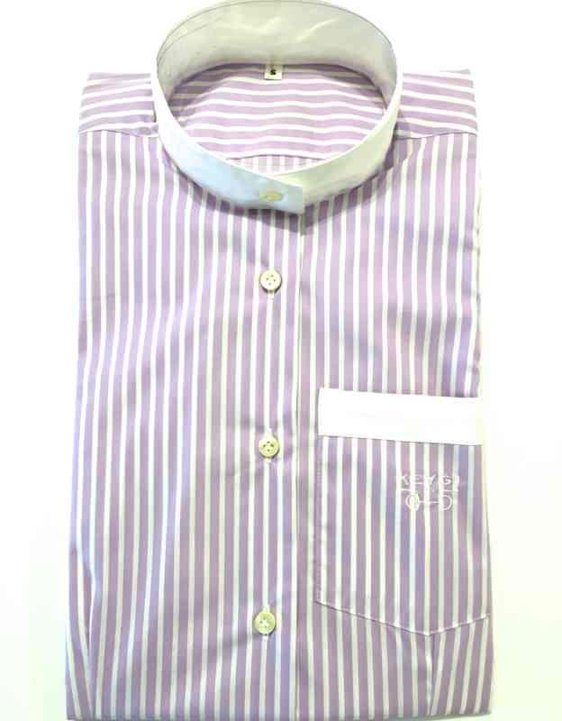 camicia righe lilla