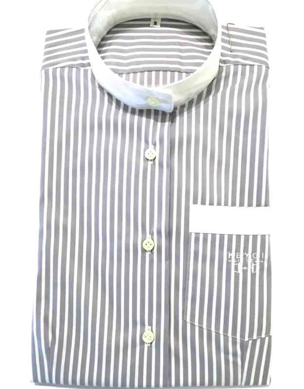 camicia righe grey