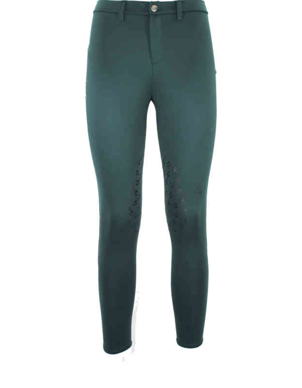 pantalone equitazione verde donna