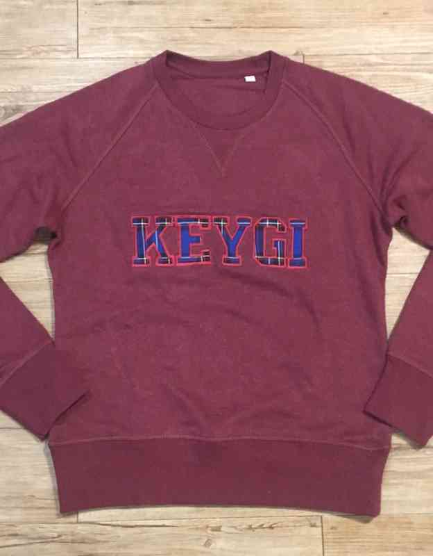 Felpa bordeaux con patch KEYGI